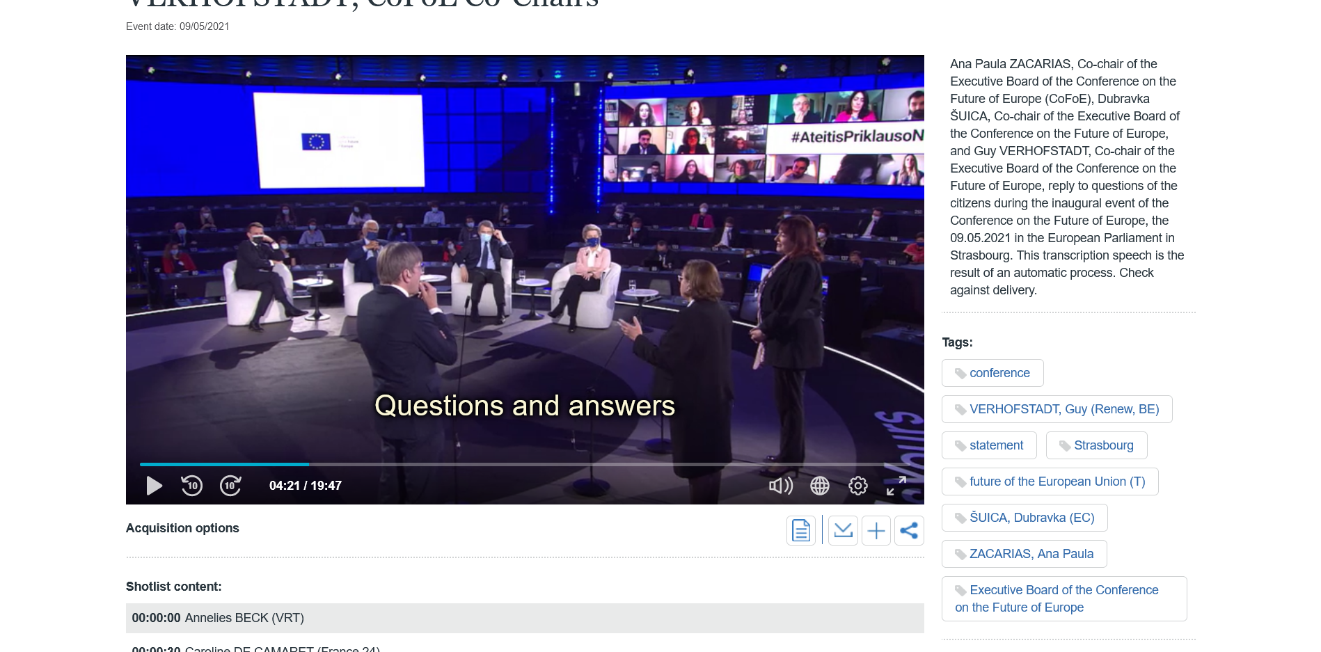 Foto: Conference on the future of Europe: Questions and answers
